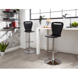 LONG ISLAND BAR STOOLS PAIR BLACK