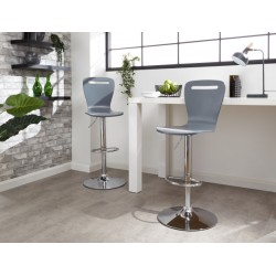 LONG ISLAND BAR STOOLS PAIR GREY