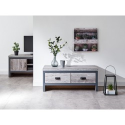 BOSTON 2 DRAWER COFFEE TABLE GREY
