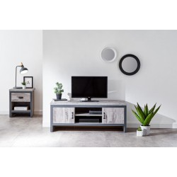 BOSTON 2 DOOR TV UNIT GREY
