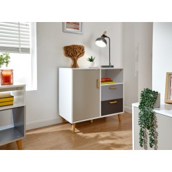 DELTA COMPACT SIDEBOARD WHITE/GREY MULTI