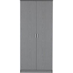 Felix 2 Door Wardrobe Grey