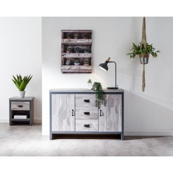 BOSTON 2 DOOR 3 DRAWER SIDEBOARD GREY