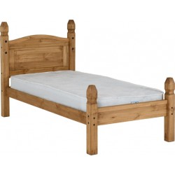 Corona 3' Bed Low Foot End Distressed Waxed Pine Brixton Beds