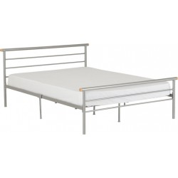 """Orion 4'6"""" Bed Silver Brixton Beds"""