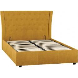 "Camden Plus 4'6"" Storage Bed Mustard Fabric"