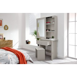 HOBSON MIRRORED UNIT + STOOL GREY