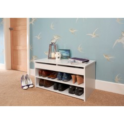 BUDGET SHOE CABINET WHITE