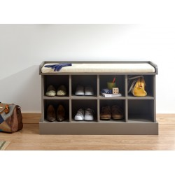 KEMPTON SHOE BENCH GREY