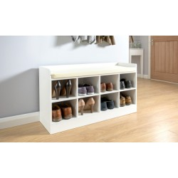 KEMPTON SHOE BENCH WHITE