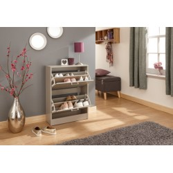 STIRLING TWO TIER SHOE CABINET GREY