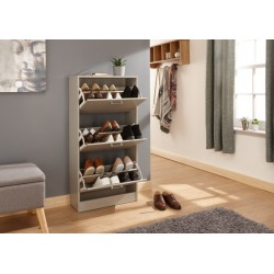 STIRLING THREE TIER SHOE CABINET GREY