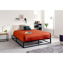 PLATFORM BED 150CM BLACK