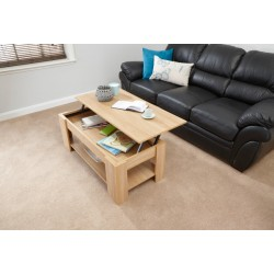 LIFT UP COFFEE TABLE OAK