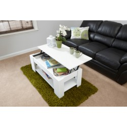 LIFT UP COFFEE TABLE WHITE
