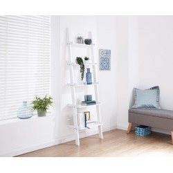 LADDER STYLE 5 TIER WALL RACK WHITE