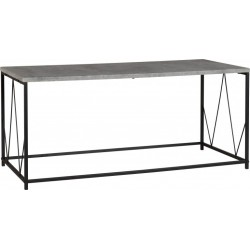 Athens Rectangular Coffee Table Concrete Effect/Black