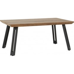 Quebec Straight Edge Coffee Table Medium Oak Effect/Black