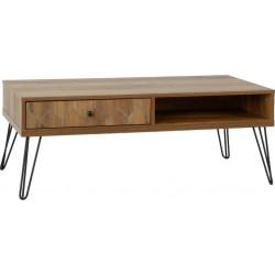 Ottawa 1 Drawer Coffee Table Medium Oak Effect/Black
