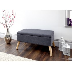 ALEXANDRA STORAGE OTTOMAN LARGE CHARCOAL