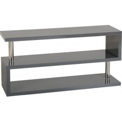 Charisma TV Stand Grey Gloss/Chrome- Brixton Beds