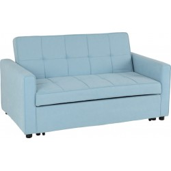Astoria Sofa Bed Light Blue Fabric