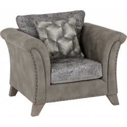 Grace Chair Silver/Grey Fabric - Brixton Beds
