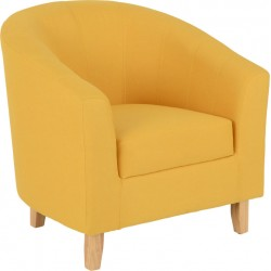 Tempo Tub Chair Mustard Fabric - Brixton Beds
