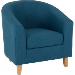 Tempo Tub Chair Petrol Blue Fabric - Brixton Beds