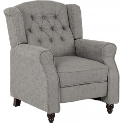 Balmoral Reclining Chair Grey Fabric