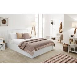 COMO 150CM WOODEN OTTOMAN BED WHITE