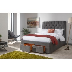 KOLN 150CM DRAWER BED GREY