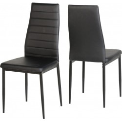Abbey Chair Black Faux Leather