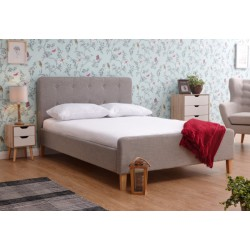 ASHBOURNE 135CM BEDSTEAD LIGHT GREY