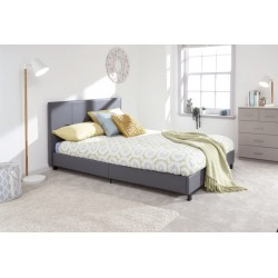 135CM BED IN A BOX GREY
