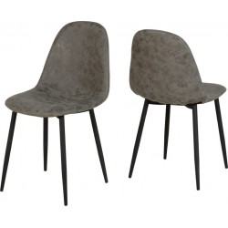 Athens Chair Grey Faux Leather