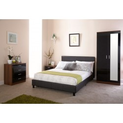 150CM BED IN A BOX BLACK
