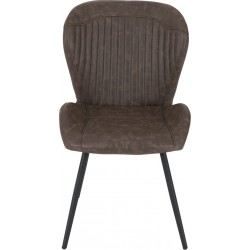 Quebec Chair Brown Faux Leather