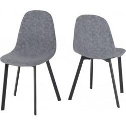 Berlin Chair Dark Grey Fabric