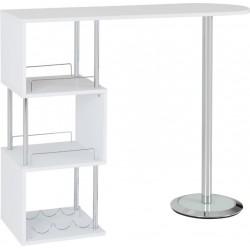 Charisma Home Bar Table White/Chrome