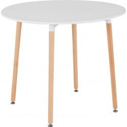 Lindon Dining Table White/Natural Oak