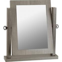 Lisbon Dressing Table Mirror Black Wood Grain