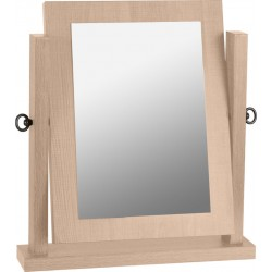 Lisbon Dressing Table Mirror Light Oak Effect Veneer