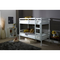 Durham White Wooden Bunk Bed Frame - 3ft Single