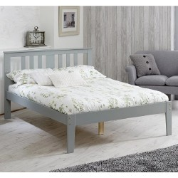 Kingston Grey Wooden Bed