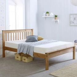 Somerset Waxed Pine Wooden Bed