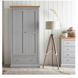KINGSTON 2 DOOR 1 DRW WARDROBE (2 BOXES)