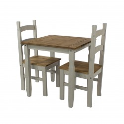 Corona square dining table & 2 chair SET