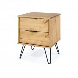 Augusta 2 drawer bedside cabinet