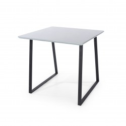 Aspen square table with wooden legs
